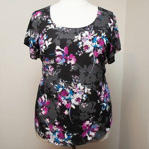 LIKE NEW! Torrid Floral Georgette Button Back Sz 3